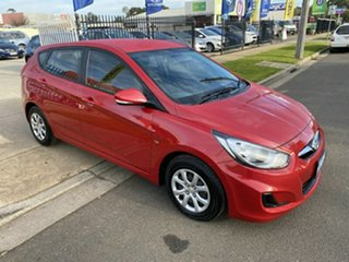 2013 Hyundai Accent RB Active Red 5 Speed Manual Hatchback.