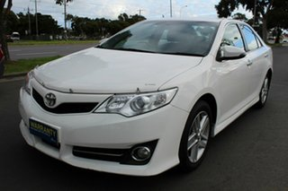 2013 Toyota Camry ASV50R Atara S White 6 Speed Sports Automatic Sedan.