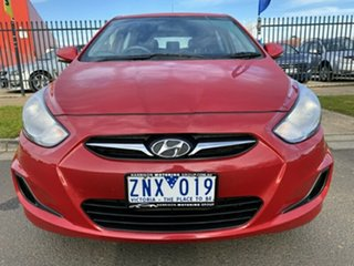 2013 Hyundai Accent RB Active Red 5 Speed Manual Hatchback