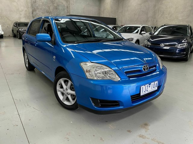 Used Toyota Corolla ZZE122R 5Y Ascent Sport, 2007 Toyota Corolla ZZE122R 5Y Ascent Sport Blue 5 Speed Manual Hatchback