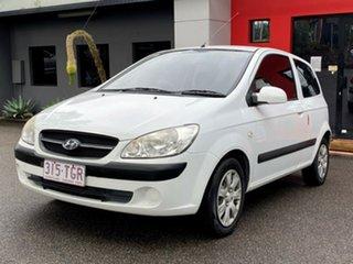 2008 Hyundai Getz TB MY09 SX White 4 Speed Automatic Hatchback.
