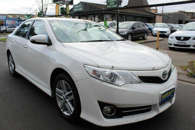 Used Toyota Camry ASV50R Atara S West Footscray, 2013 Toyota Camry ASV50R Atara S White 6 Speed Sports Automatic Sedan