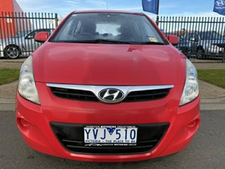 2011 Hyundai i20 PB MY11 Active Red 4 Speed Automatic Hatchback