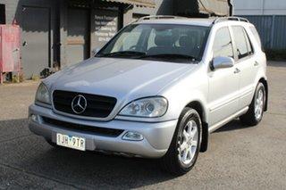 2001 Mercedes-Benz ML270 CDI Luxury (4x4) Silver 5 Speed Auto Tipshift Wagon.