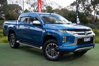 2020 Mitsubishi Triton MR MY20 GLS Double Cab Impulse Blue 6 Speed Sports Automatic Utility.