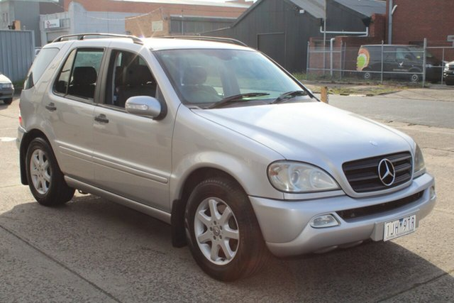 Used Mercedes-Benz ML270 CDI Luxury (4x4) West Footscray, 2001 Mercedes-Benz ML270 CDI Luxury (4x4) Silver 5 Speed Auto Tipshift Wagon