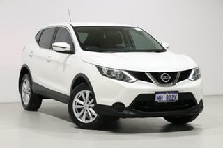 2015 Nissan Qashqai J11 ST White Continuous Variable Wagon.