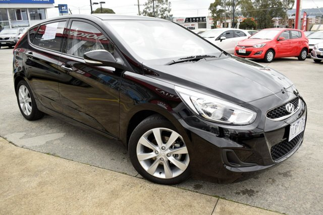 Used Hyundai Accent RB5 MY17 Sport, 2017 Hyundai Accent RB5 MY17 Sport Black 6 Speed Sports Automatic Hatchback