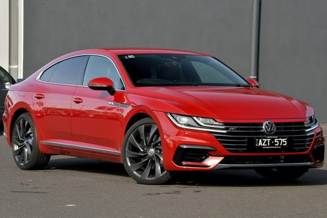 Used Volkswagen Arteon 3H MY18 206TSI Sedan DSG 4MOTION R-Line Moorabbin, 2018 Volkswagen Arteon 3H MY18 206TSI Sedan DSG 4MOTION R-Line Red 7 Speed