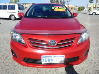 2011 Toyota Corolla ZRE152R MY11 Conquest Red 4 Speed Automatic Sedan.