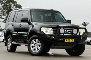 2010 Mitsubishi Pajero NT MY10 Platinum Black 5 Speed Sports Automatic Wagon.