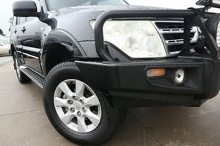 2010 Mitsubishi Pajero NT MY10 Platinum Black 5 Speed Sports Automatic Wagon.