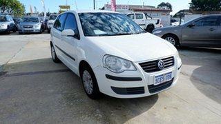 2006 Volkswagen Polo 9N MY2006 Match White 5 Speed Manual Hatchback.