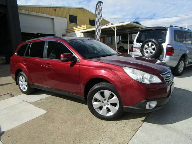 Used Subaru Outback B5A MY10 2.5i Lineartronic AWD Premium Moorooka, 2010 Subaru Outback B5A MY10 2.5i Lineartronic AWD Premium Maroon 6 Speed Constant Variable Wagon