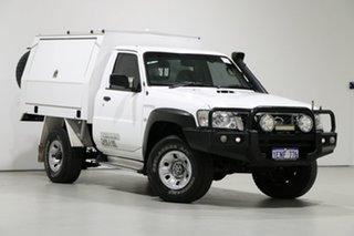 2014 Nissan Patrol MY14 DX (4x4) White 5 Speed Manual Leaf Cab Chassis.