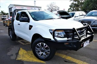 2013 Ford Ranger PX XL Super Cab White 6 Speed Manual Utility.