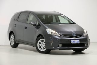 2013 Toyota Prius v ZVW40R Hybrid Grey Continuous Variable Wagon.