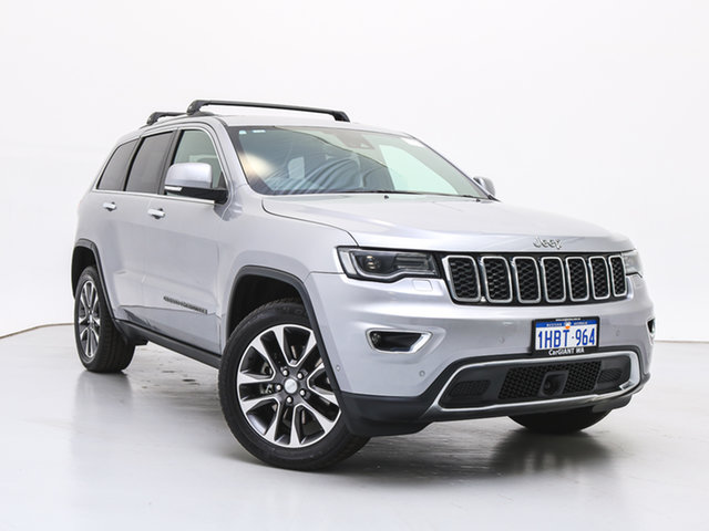 Used Jeep Grand Cherokee WK MY18 Limited (4x4), 2018 Jeep Grand Cherokee WK MY18 Limited (4x4) Silver 8 Speed Automatic Wagon