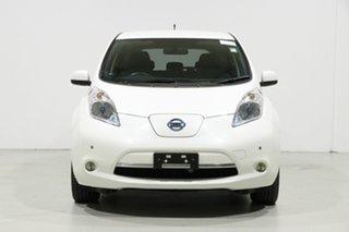 2014 Nissan Leaf ZE0 White 1 Speed Automatic Hatchback.