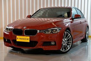 2015 BMW 3 Series F30 LCI 330i M Sport Red/Black 8 Speed Sports Automatic Sedan.