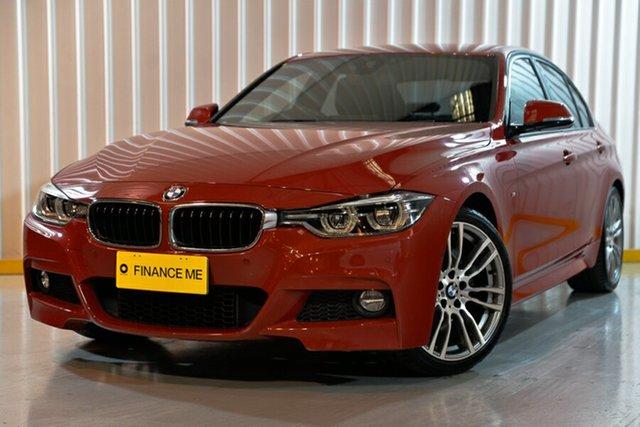 Used BMW 3 Series F30 LCI 330i M Sport, 2015 BMW 3 Series F30 LCI 330i M Sport Red/Black 8 Speed Sports Automatic Sedan
