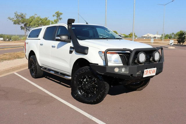 Used Ford Ranger PX XLT Double Cab, 2015 Ford Ranger PX XLT Double Cab White 6 Speed Manual Dual Cab Utility