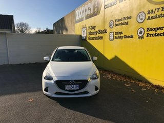 2017 Mazda 2 DL2SAA Maxx SKYACTIV-Drive White 6 Speed Sports Automatic Sedan.