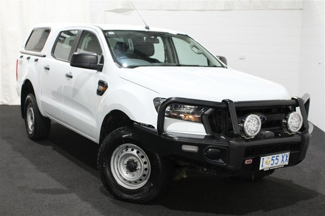 Used Ford Ranger PX MkII 2018.00MY XL Double Cab, 2018 Ford Ranger PX MkII 2018.00MY XL Double Cab White 6 Speed Sports Automatic Utility