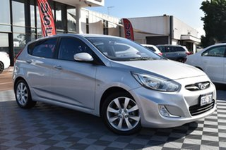 2013 Hyundai Accent RB Premium Silver 4 Speed Sports Automatic Hatchback.
