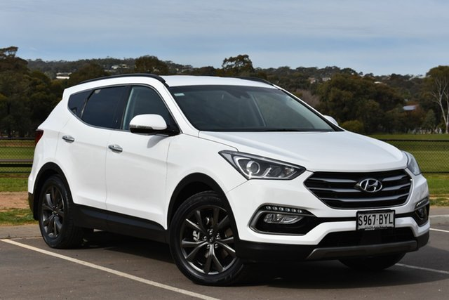 Used Hyundai Santa Fe DM3 MY17 Active X 2WD, 2017 Hyundai Santa Fe DM3 MY17 Active X 2WD White 6 Speed Sports Automatic Wagon