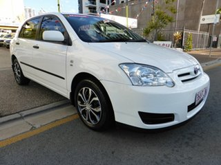 2005 Toyota Corolla ZZE122R Ascent Seca White 5 Speed Manual Hatchback.