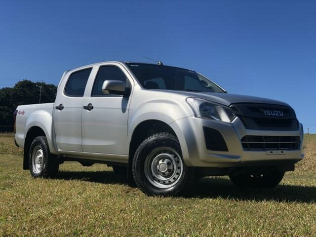 Used Isuzu D-MAX TF MY18 SX (4x4), 2018 Isuzu D-MAX TF MY18 SX (4x4) Silver 6 Speed Automatic Crew Cab Chassis