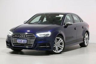 2018 Audi S3 8V MY19 2.0 TFSI Quattro Blue 7 Speed Auto S-Tronic Sedan.