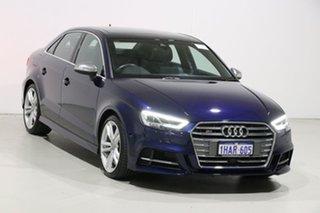 2018 Audi S3 8V MY19 2.0 TFSI Quattro Blue 7 Speed Auto S-Tronic Sedan