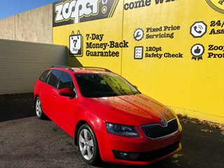 2015 Skoda Octavia NE MY16 Ambition DSG 110TSI Red 7 Speed Sports Automatic Dual Clutch Wagon.