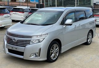 2010 Nissan Elgrand PE52 Highway Star Premium Silver Constant Variable Wagon.