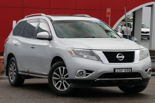 Used Nissan Pathfinder R52 MY15 ST-L X-tronic 2WD, 2015 Nissan Pathfinder R52 MY15 ST-L X-tronic 2WD Silver 1 Speed Constant Variable Wagon