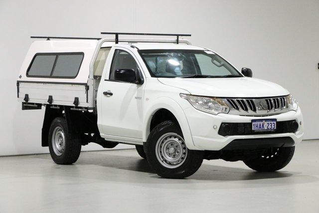 Used Mitsubishi Triton MN MY15 GLX (4x4), 2015 Mitsubishi Triton MN MY15 GLX (4x4) White 5 Speed Manual 4x4 Cab Chassis