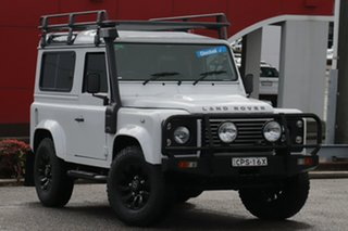 2013 Land Rover Defender 90 13MY White 6 Speed Manual Wagon.