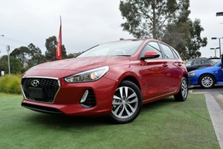 2018 Hyundai i30 PD2 MY19 Active Fiery Red 6 Speed Sports Automatic Hatchback.