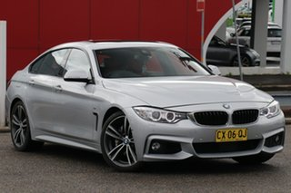 2016 BMW 430i F36 M Sport Gran Coupe Silver 8 Speed Sports Automatic Hatchback.