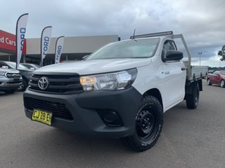 2016 Toyota Hilux Workmate White Manual Cab Chassis - Single Cab.