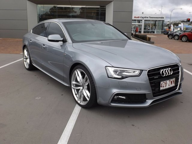 Used Audi A5 8T MY14 Sportback S Tronic Quattro, 2014 Audi A5 8T MY14 Sportback S Tronic Quattro Grey 7 Speed Sports Automatic Dual Clutch Hatchback