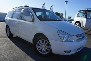 2008 Kia Grand Carnival VQ MY08 Platinum White 5 Speed Sports Automatic Wagon.