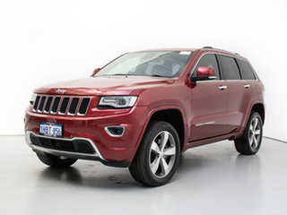 2016 Jeep Grand Cherokee WK MY15 Overland (4x4) Red 8 Speed Automatic Wagon.