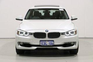 2012 BMW 335i F30 Luxury Line White 8 Speed Automatic Sedan.