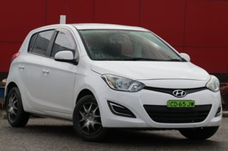 2015 Hyundai i20 PB MY15 Active White 4 Speed Automatic Hatchback.