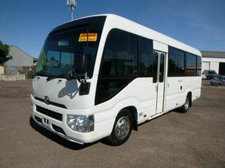2017 Toyota Coaster XZB70R White Passenger Bus.