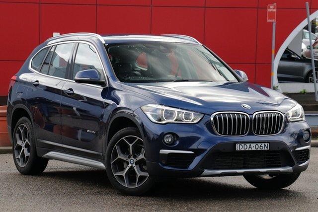 Used BMW X1 F48 sDrive18d Steptronic, 2016 BMW X1 F48 sDrive18d Steptronic Blue 8 Speed Sports Automatic Wagon