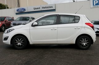 2015 Hyundai i20 PB MY15 Active White 4 Speed Automatic Hatchback